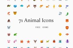 Иконки животных (71 шт.)